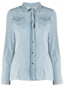 Dondup embellished collar shirt - Blue