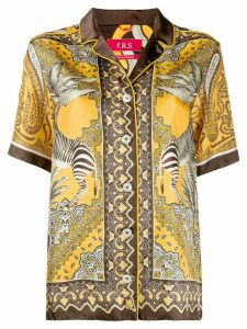 F.R.S For Restless Sleepers paisley print pajama shirt - Yellow