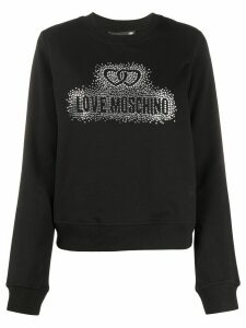 Love Moschino rhinestone embellished sweatshirt - Black
