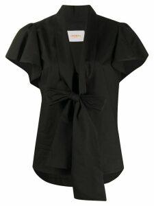 La Doublej Lou Lou tie front shirt - Black