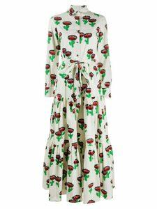 La Doublej Bellini cactus print shirt dress - NEUTRALS