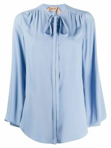 Nº21 pussy bow blouse - Blue