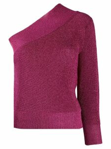 Laneus metallized one-sleeve jumper - PINK