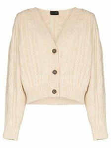 Magda Butrym Albion chunky-knit cardigan - NEUTRALS