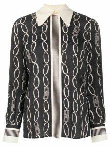 Elisabetta Franchi chain link print blouse - Blue