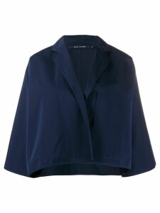 Sofie D'hoore cropped oversized jacket - Blue