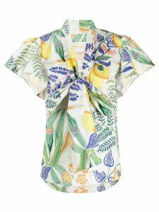 La Doublej Lou Lou botanical print shirt - White