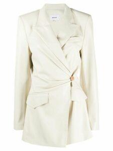 Nanushka wrap front blazer - White