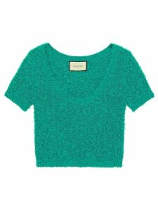 Gucci GG patch knitted top - Green