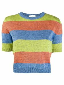 Neul striped print jumper - ORANGE