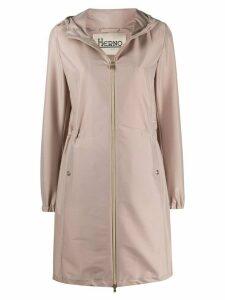Herno hooded zip-up raincoat - PINK