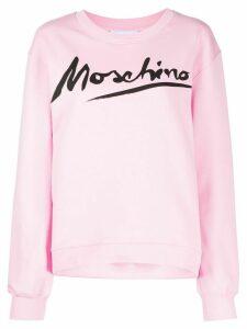 Moschino Logo Signature crewneck sweatshirt - PINK