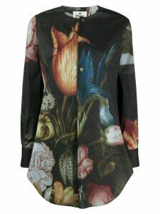 Vivienne Westwood Anglomania floral-print collarless shirt - Black
