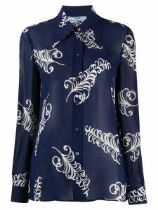 Prada sablé crêpe shirt - Blue