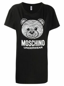 Moschino lace Teddy T-shirt - Black