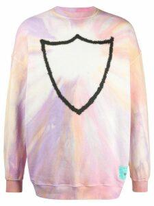 Htc Los Angeles logo tie-dye print sweatshirt - PINK