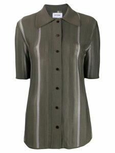 EFTYCHIA longline fine knit shirt - Grey