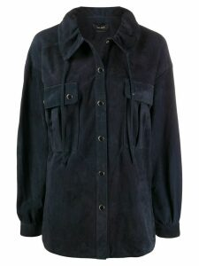 Isabel Marant Alambari drawstring shirt jacket - Blue