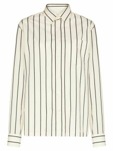 Sunflower striped cotton shirt - White