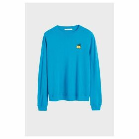Chinti & Parker Blue Lemon Badge Cashmere Sweater