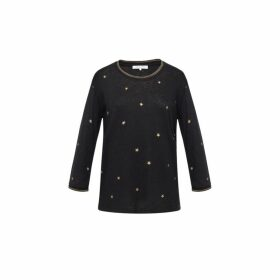 Gerard Darel Eden T-shirt With Stars In Lurex