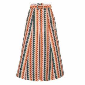 Lisou Eva Metallic Rainbow Zig Zag Jacquard Skirt