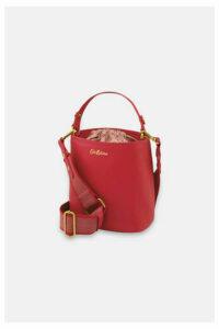 Small Leather Bucket Cross Body Bag