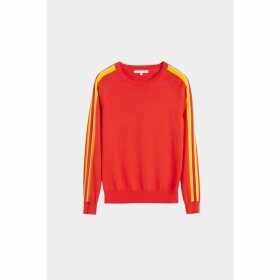 Chinti & Parker Red Seaside Stripe Sweater