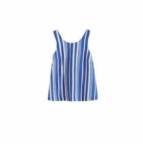 Chinti & Parker Blue Striped Parasol Tie Back Top
