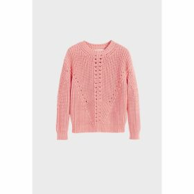 Chinti & Parker Pink Le Soir Crew Neck Sweater