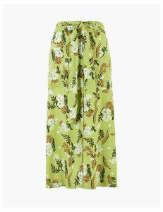 Per Una Floral Print Button Front Pencil Midi Skirt