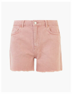M&S Collection Denim Cut Off High Waisted Shorts