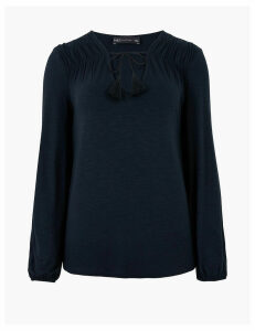 M&S Collection V-Neck Relaxed Blouse