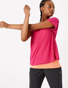 GOODMOVE Textured Double Layer Top