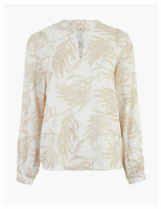Per Una Linen Printed Relaxed Blouse