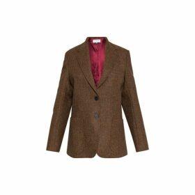 Gerard Darel Wool Herringbone Vannessa Suit Jacket