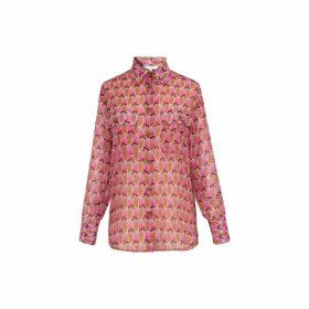 Gerard Darel Printed Cotton And Silk Shirt