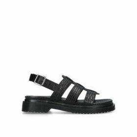 Aldo Chellabae - Black Croc Print Chunky Sandals