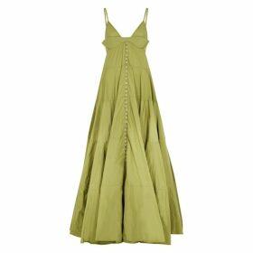 Jacquemus La Robe Manosque Taffeta Maxi Dress