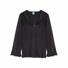 M Missoni Dark Grey Metallic-weave Jumper
