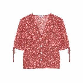 Rails Amelia Floral-print Rayon-blend Blouse