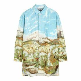 Jacquemus La Chemise Paul Printed Cotton Shirt