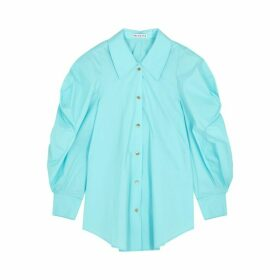Rejina Pyo Julia Turquoise Cotton-blend Shirt