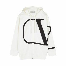 Valentino VLogo White Cotton-blend Sweatshirt
