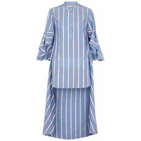 Palmer//harding Charlie Striped Asymmetric Shirt