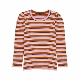 Veronica Beard Britney Striped Jersey Top