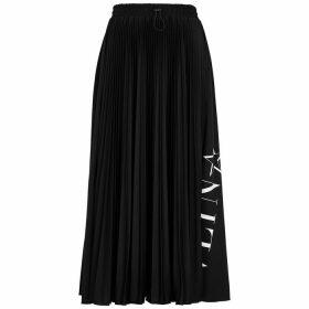Valentino VLTNSTAR Pleated Jersey Midi Skirt