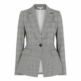 Veronica Beard Suri Checked Cotton-blend Blazer