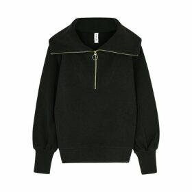 Varley Vine Black Ribbed Jersey Sweatshirt