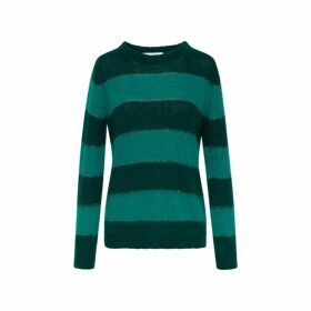 Gerard Darel Striped Mohair Shiloh Sweater With Lurex